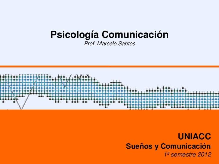 Psicología Comunicación      Prof. Marcelo Santos                                   UNIACC                      Sueños y C...
