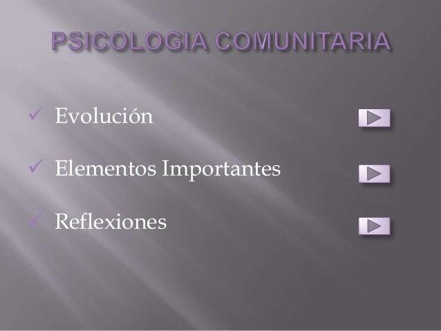  Evolución Elementos Importantes Reflexiones