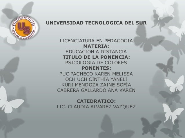UNIVERSIDAD TECNOLOGICA DEL SUR    LICENCIATURA EN PEDAGOGIA             MATERIA:      EDUCACION A DISTANCIA     TITULO DE...