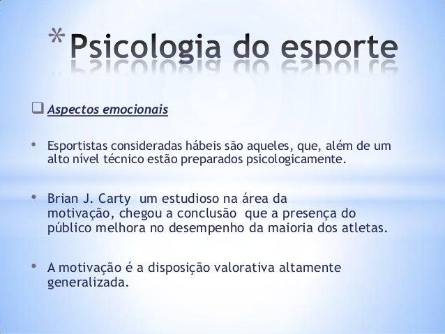 Curso psicologia do esporte