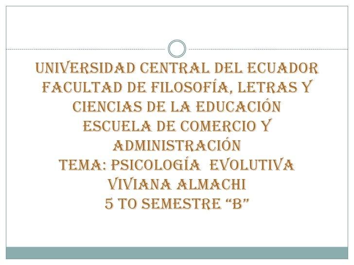 UNIVERSIDAD CENTRAL DEL ECUADOR FACULTAD DE FILOSOFÍA, LETRAS Y    CIENCIAS DE LA EDUCACIÓN     ESCUELA DE COMERCIO Y     ...