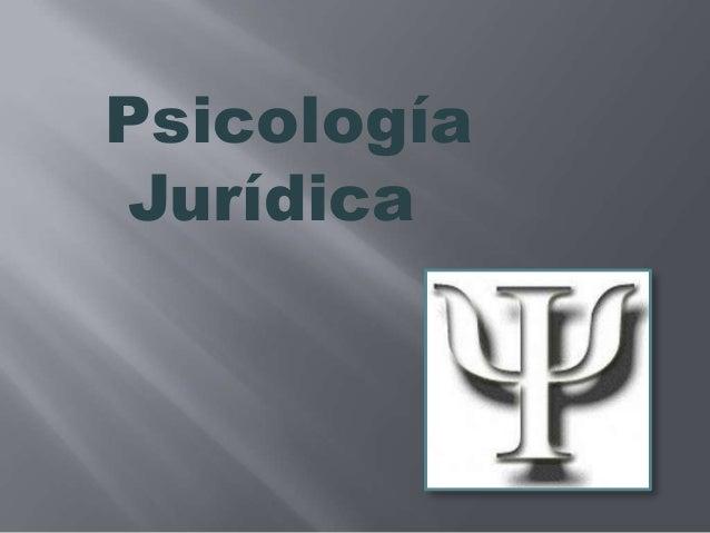 PsicologíaJurídica