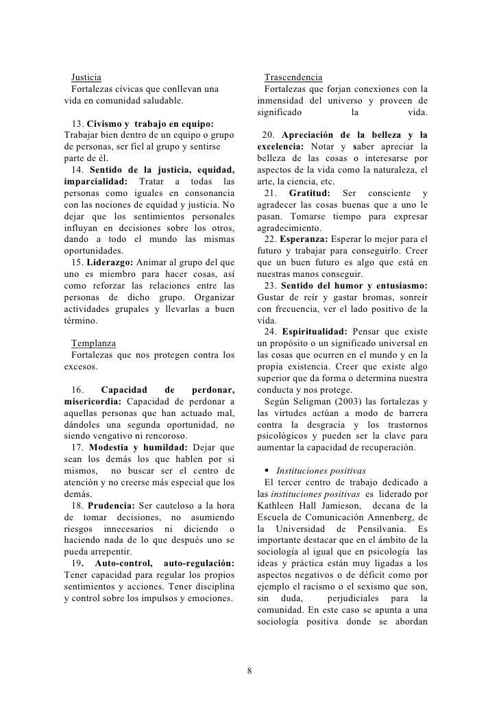 Justicia                                         Trascendencia   Fortalezas cívicas que conllevan una             Fortalez...
