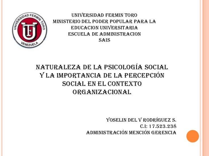 UNIVERSIDAd FERMIN TORO    MINISTERIO Del PODER POPULAR PARA LA           EDUCACION UNIVERSITARIA          ESCUELA DE ADMI...