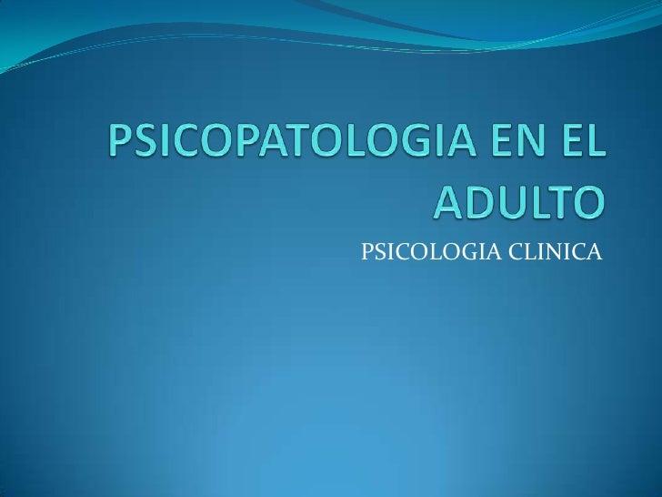 PSICOLOGIA CLINICA