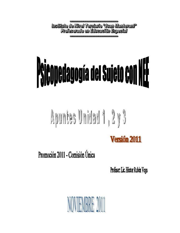 Psicopedagogía del sujeto 2011 versión provisoria