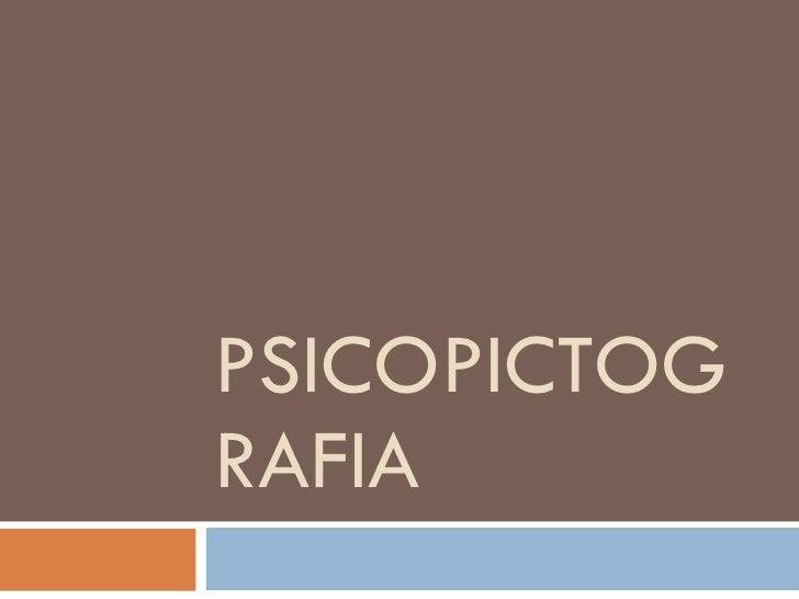PSICOPICTOGRAFIA
