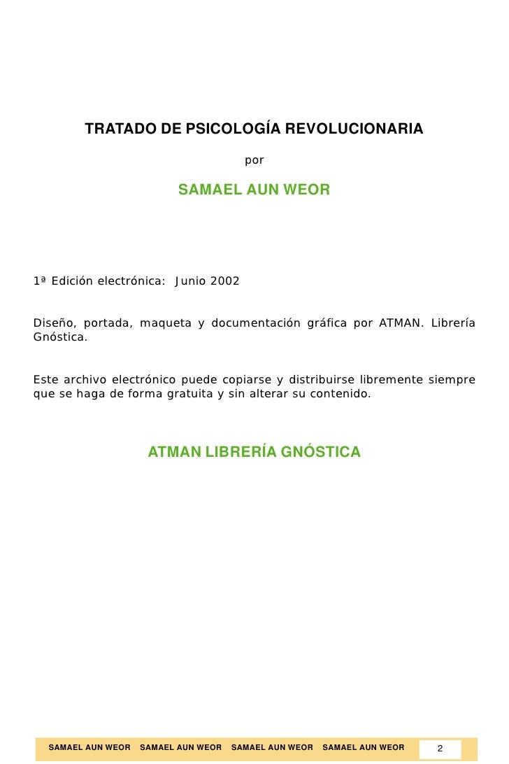 Tratado de Psicología Revolucionaria - Samael Aun Weor Slide 2