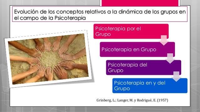 Evolución de los conceptos relativos a la dinámica de los grupos en el campo de la Psicoterapia Psicoterapia por el Grupo ...