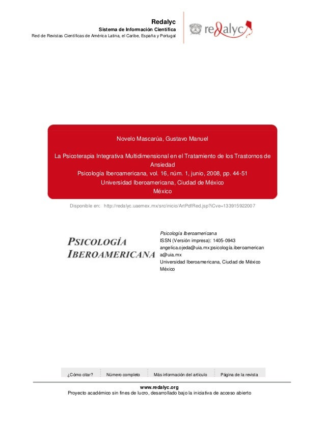Disponible en: http://redalyc.uaemex.mx/src/inicio/ArtPdfRed.jsp?iCve=133915922007 Redalyc Sistema de Información Científi...