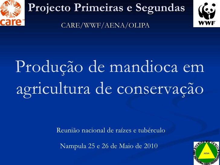 Projecto Primeiras e Segundas CARE/WWF/AENA/OLIPA Reunião nacional de raízes e tubérculo Nampula 25 e 26 de Maio de 2010 P...