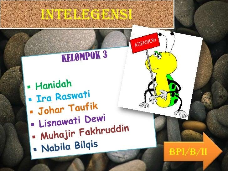 INTELEGENSI              BPI/B/II