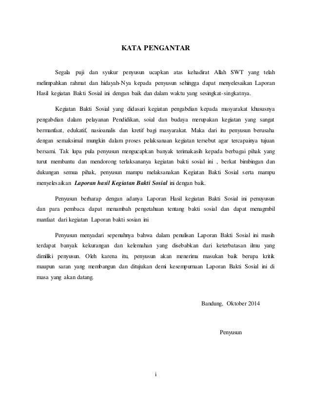 Contoh Kata Pengantar Laporan Kegiatan Contoh Soal Dan Materi Pelajaran 1
