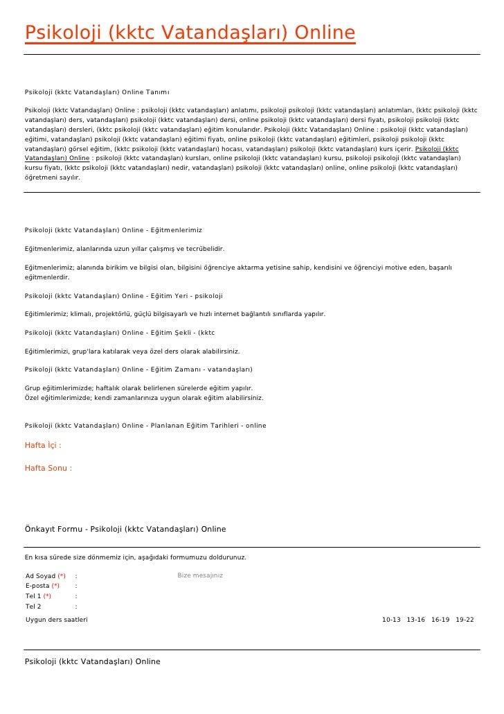 Psikoloji (kktc Vatandaşları) OnlinePsikoloji (kktc Vatandaşları) Online TanımıPsikoloji (kktc Vatandaşları) Online : psik...