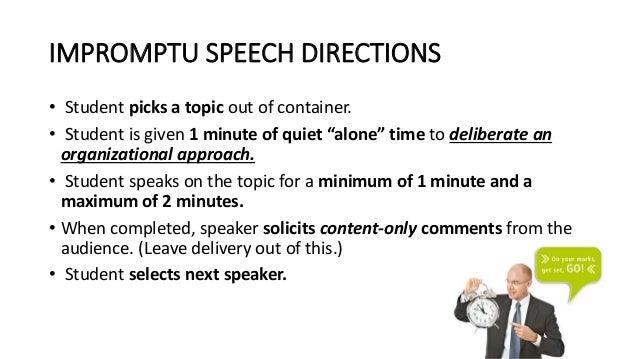 topics regarding extemporaneous speech