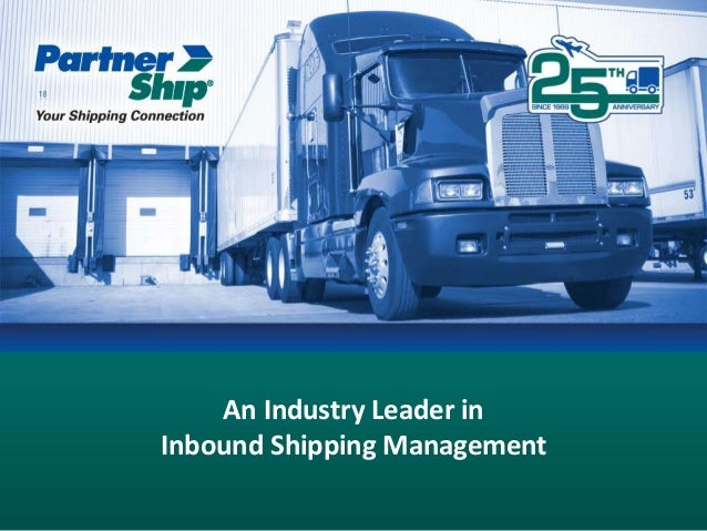 An Industry Leader in Inbound Shipping Management