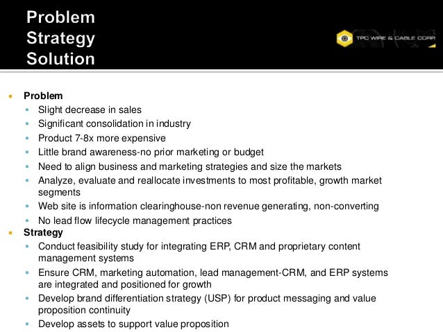    Problem     Slight decrease in sales     Significant consolidation in industry     Product 7-8x more expensive    ...