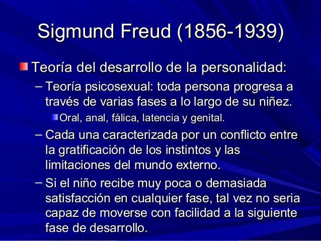 Sigmund Freud (1856-1939)Sigmund Freud (1856-1939) Teoría del desarrollo de la personalidad:Teoría del desarrollo de la pe...