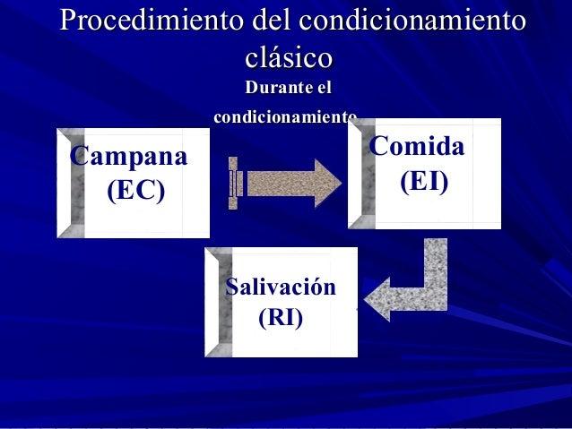 Procedimiento del condicionamientoProcedimiento del condicionamiento clásicoclásico Durante elDurante el condicionamientoc...