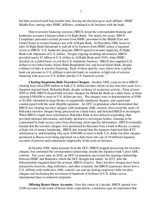 HSBC AML Case History