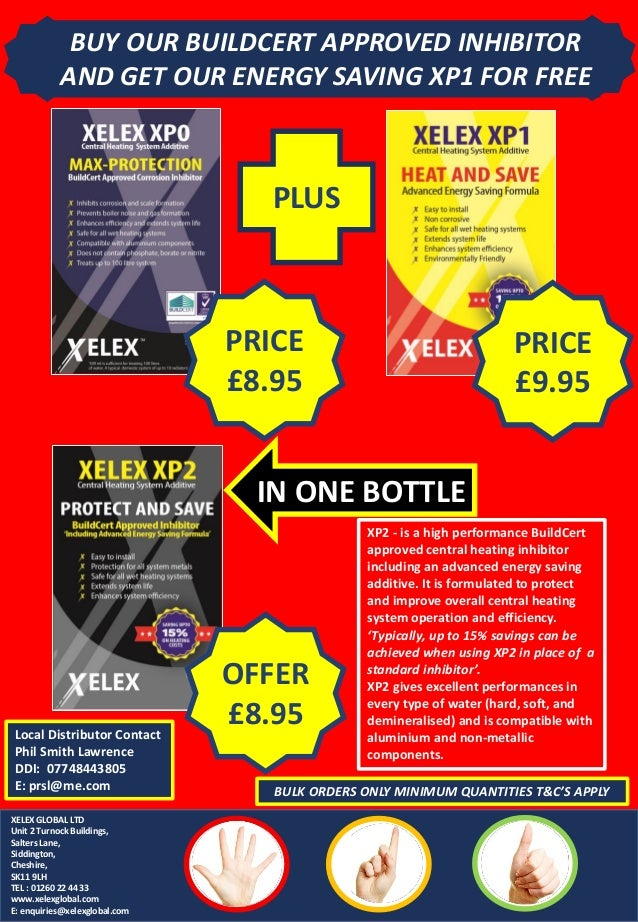 BUY OUR BUILDCERT APPROVED INHIBITOR AND GET OUR ENERGY SAVING XP1 FOR FREE XP2 - is a high performance BuildCert approved...