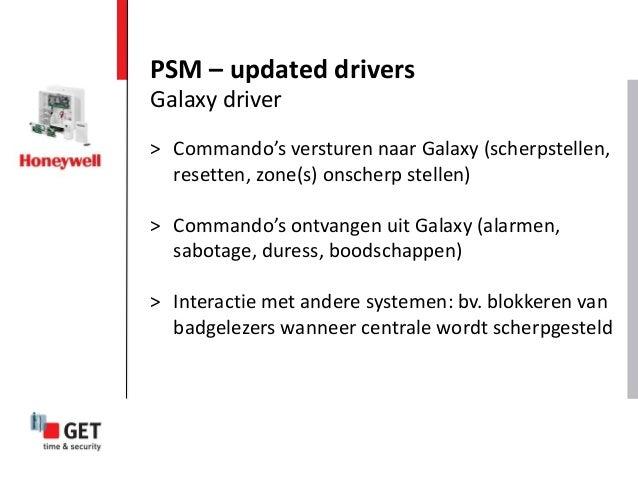 > Commando's versturen naar Galaxy (scherpstellen, resetten, zone(s) onscherp stellen) > Commando's ontvangen uit Galaxy (...