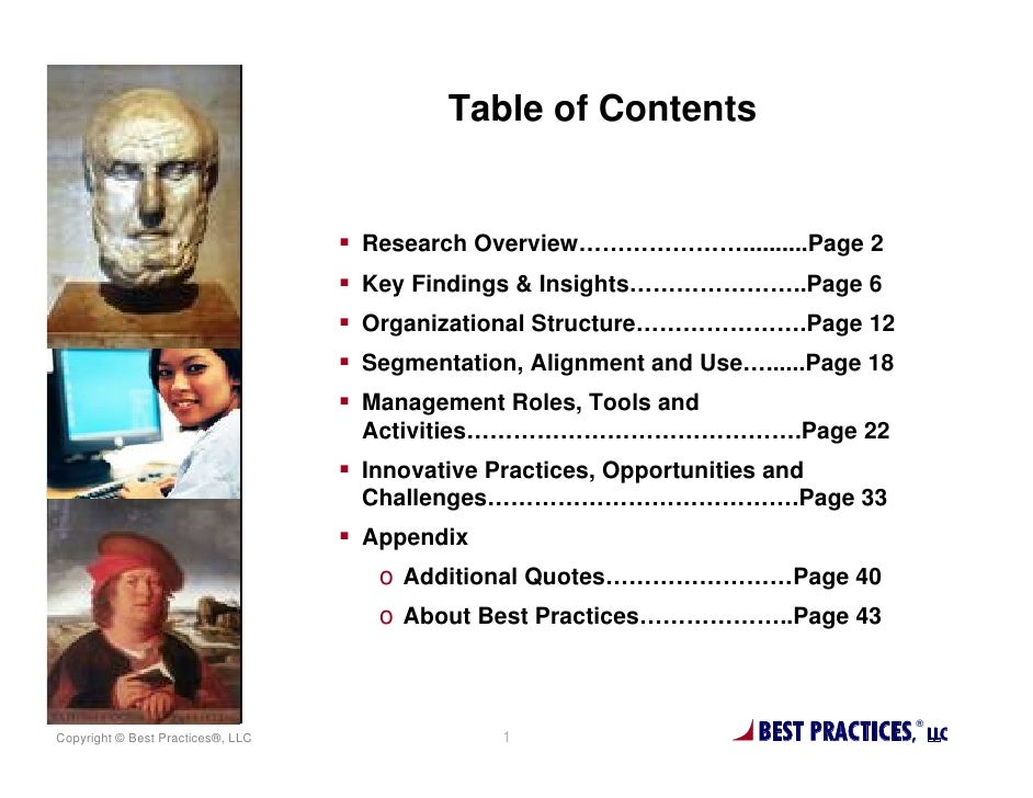 Table of Contents                                   Research Overview…………………..........Page 2                              ...