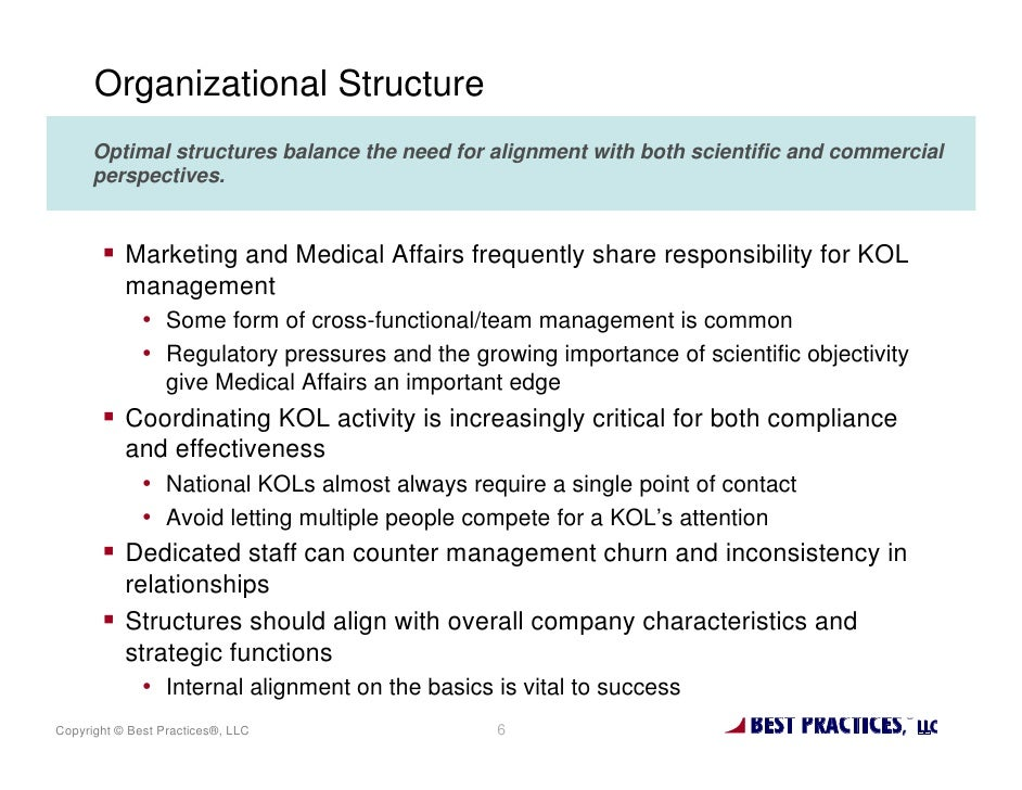 Organizational Structure      Optimal structures balance the need for alignment with both scientific and commercial      p...