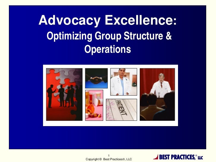 Advocacy Excellence: Optimizing Group Structure &          Operations                        1         Copyright © Best Pr...