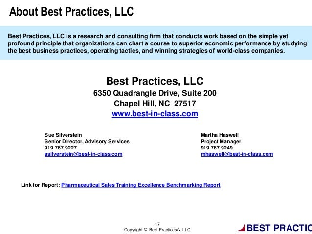 Pharmaceutical Sales Training Excellence: Tools, Processes