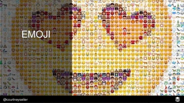 @courtneyseiter EMOJI SHARED PER DAY USE EMOJI REGULARLY Emoji use:
