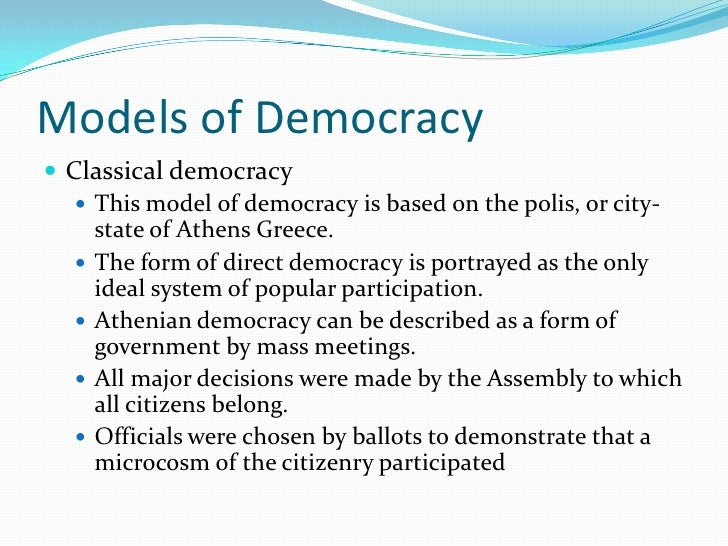 David Held Models Of Democracy Pdf
