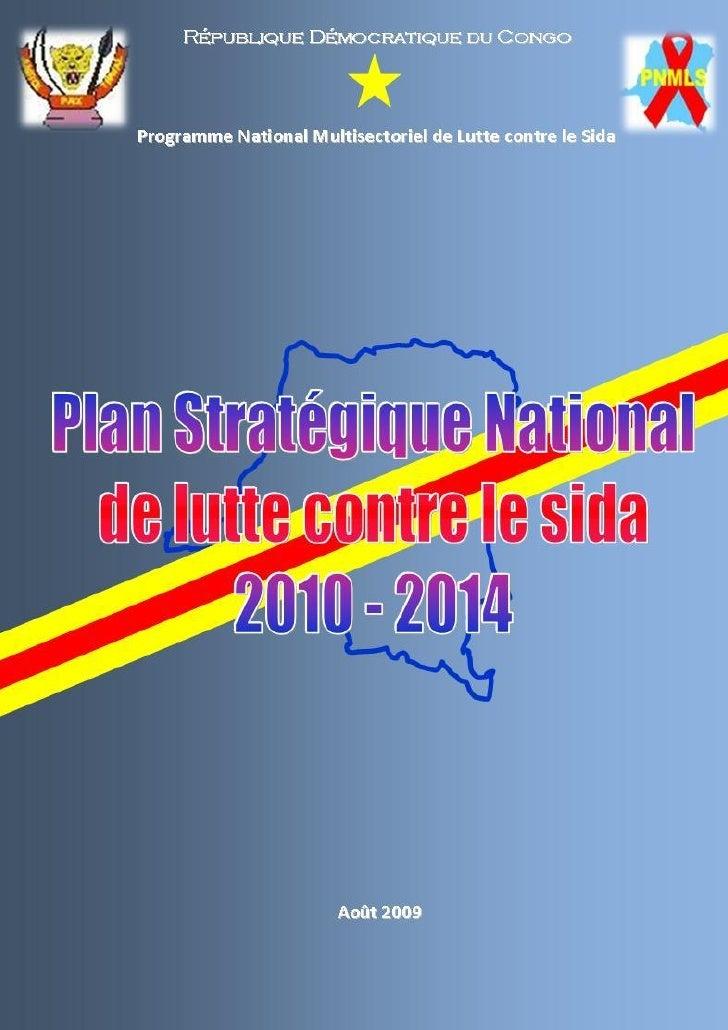 0   Plan Stratégique National de lutte contre le sida, 2010 – 2014
