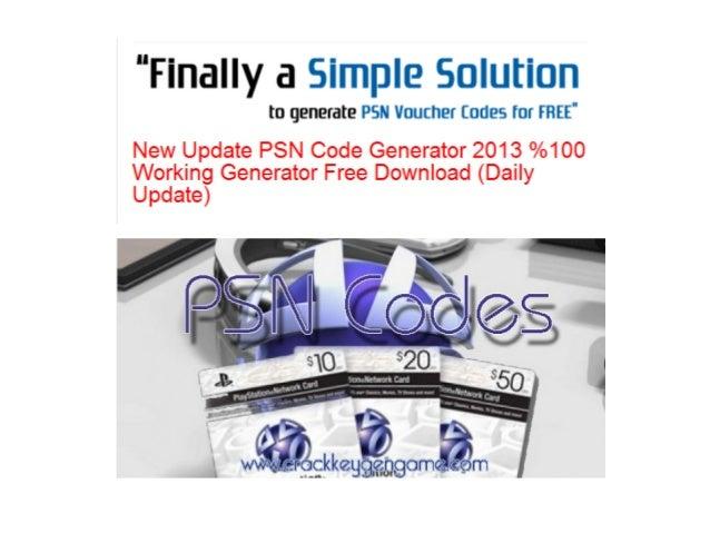 Psn code gratuit   generateur de code psn 2015