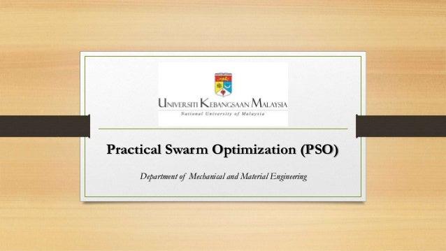 Practical Swarm Optimization (PSO)