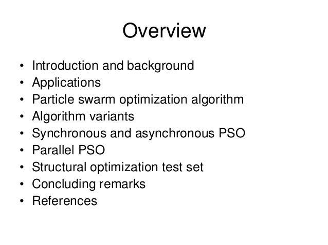 Pso introduction