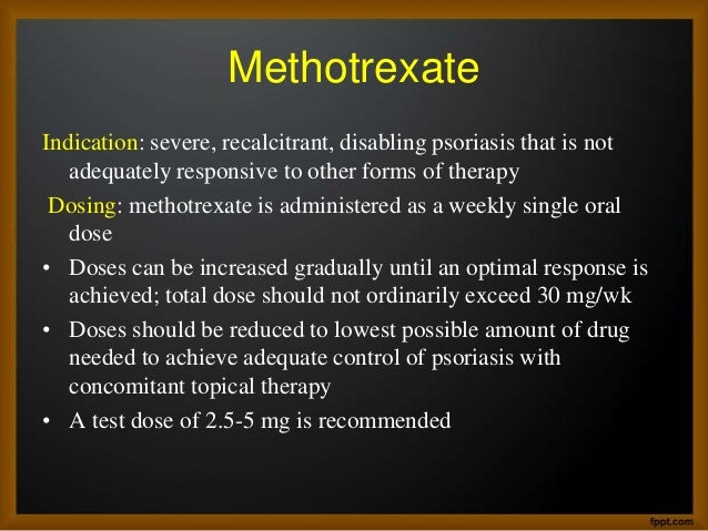 indications for methotrexate use