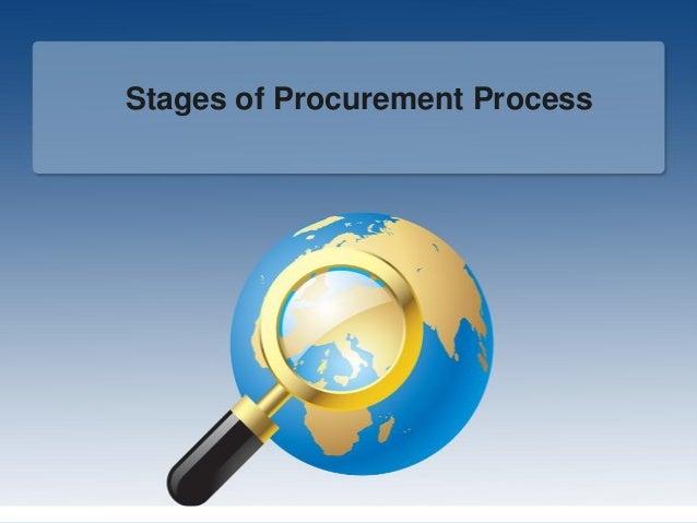 Stages of Procurement Process