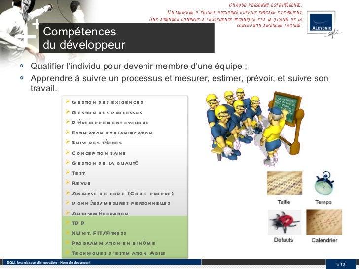 <ul><li>Qualifier l'individu pour devenir membre d'une équipe ; </li></ul><ul><li>Apprendre à suivre un processus et mesur...