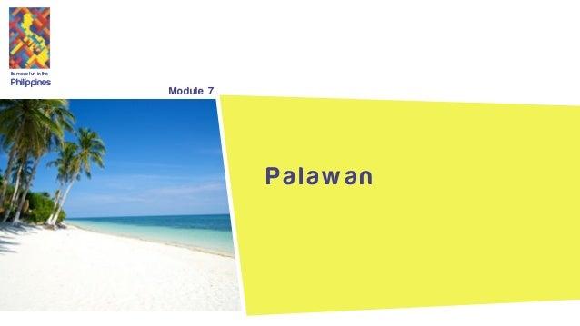 Its more fun in the Philippines Module 7 P a l a w a n