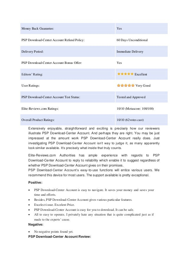 Psp go download center – honest review.