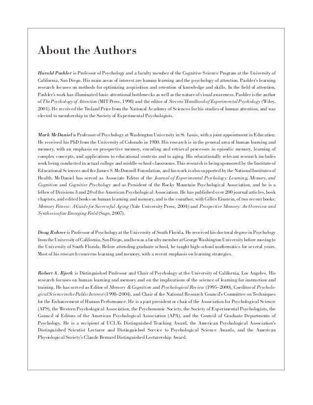Learning Styles: Concepts and Evidence. Harold Pashler, Mark McDaniel, Doug Rohrer, and Robert Bjork Slide 2