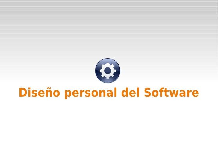 Diseño personal del Software