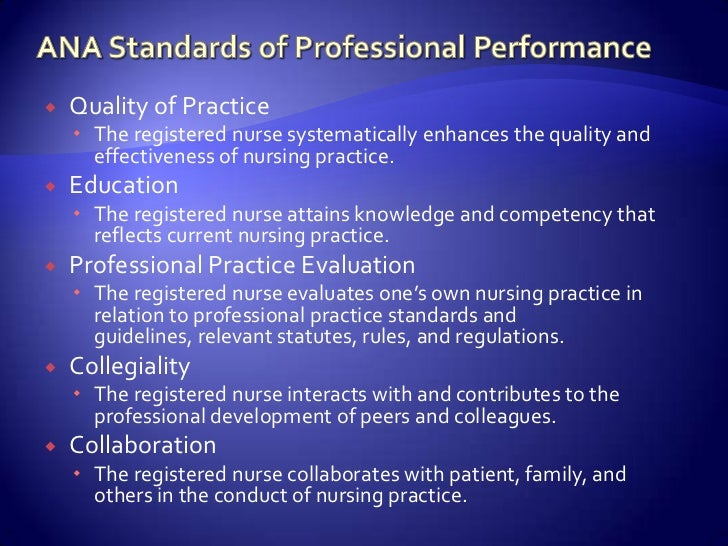 describe standards of practice from a legal and a professional nursing perspective Professional ethical principles and practice standards reinforce respect of special education standards for professional practice legal/policy information is.