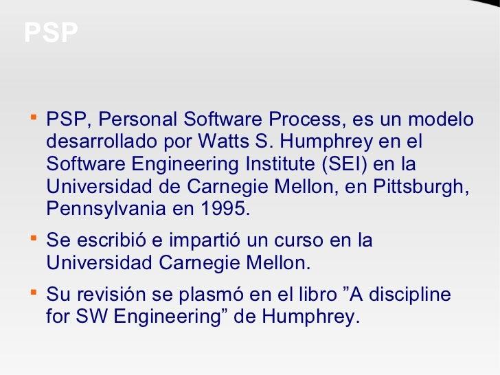 Introduccion a Personal Software Process