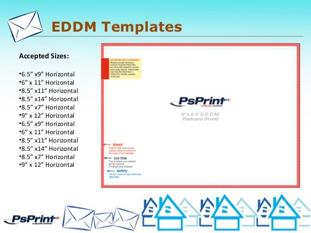 Standard Postcard Template | Eddm Size Ganda Fullring Co