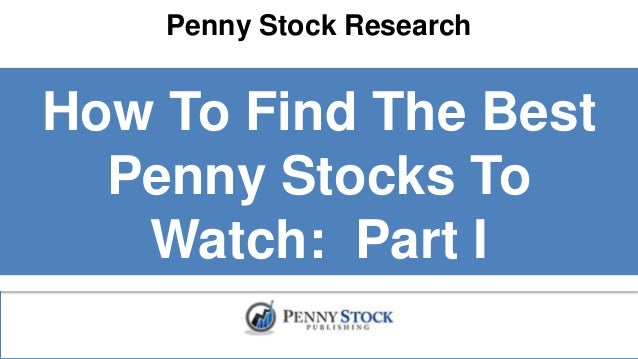 how to find penny stocks to invest in