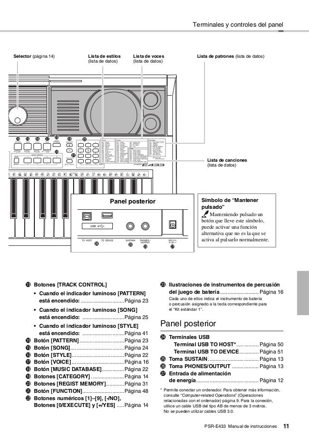 Yamaha Psre433 manual
