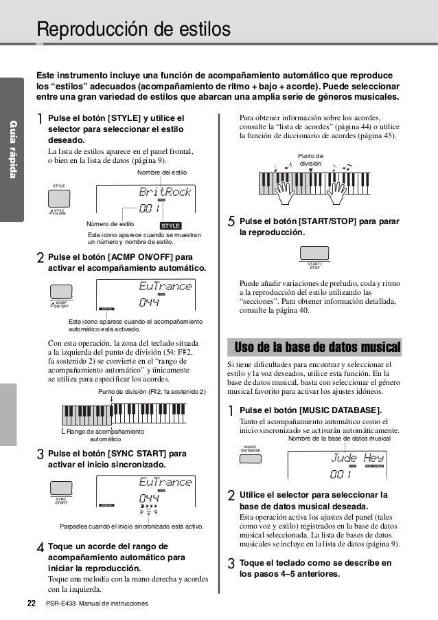 Yamaha psre433 manual.