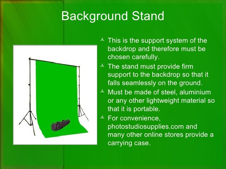 Qualities Of A Good Green Screen Background Kit